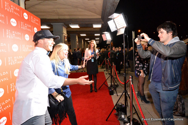 Red Carpet and Media Wall Entrance