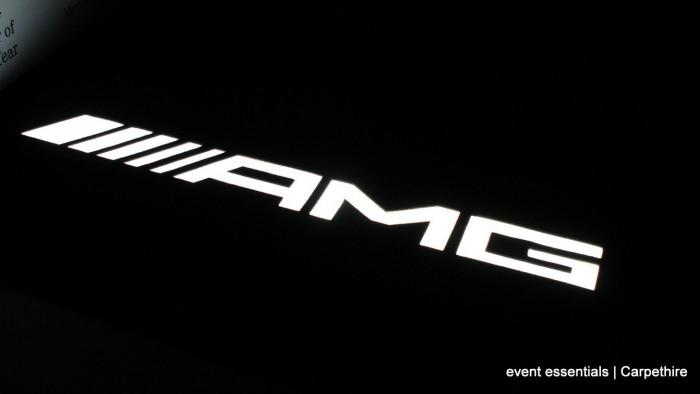Backlit CNC logo