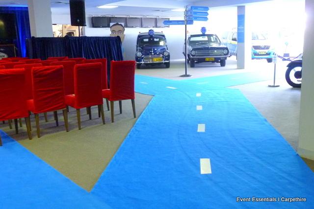 Blue Roadway Carpet, Sydney