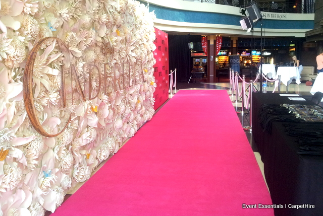 Pink Carpet Entrance, crowd control and theming