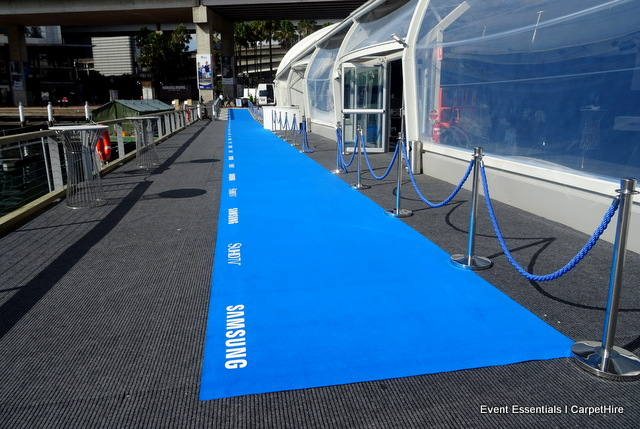 Branded Blue Carpet Entrance and crowd control