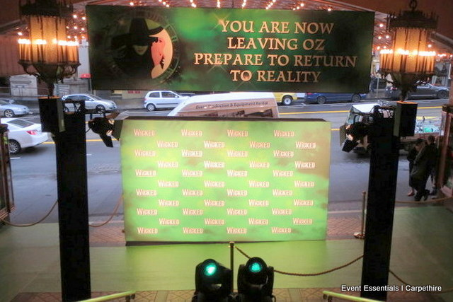 Green Carpet Entrance, Double-Sided Media Wall and Crowd Control
